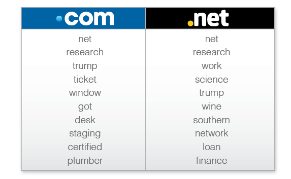 Domain name keywords trends