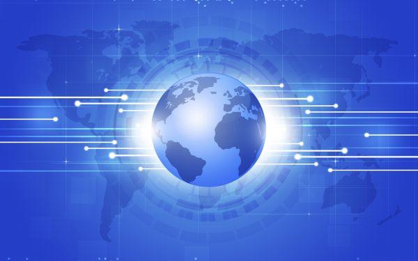World Business Blue Background