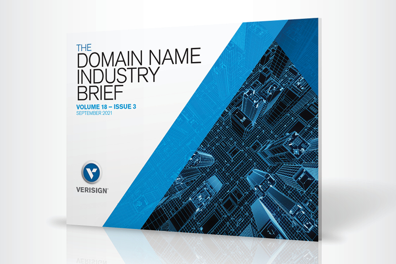 Q2 2021 Domain Name Industry Brief Report Cover
