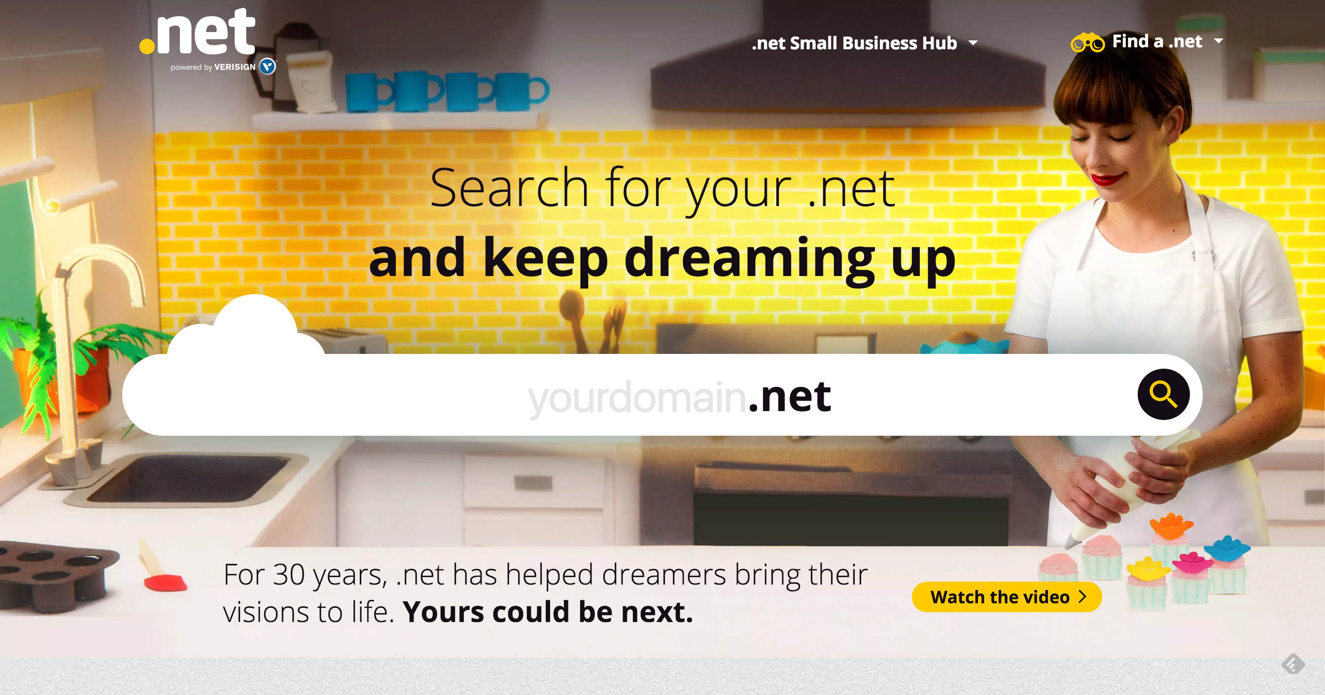 Homepage of Keep Dreaming Up Website